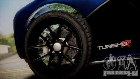 GTA 5 Grotti Turismo R SA Style для GTA San Andreas вид сзади слева