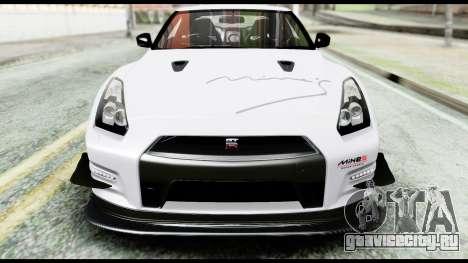 Nissan GT-R R35 2012 для GTA San Andreas вид сверху