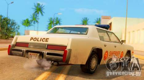 4-door Police Esperanto для GTA San Andreas вид слева