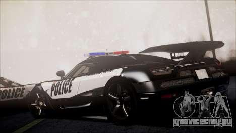 NFS Rivals Koenigsegg Agera R для GTA San Andreas вид сзади слева