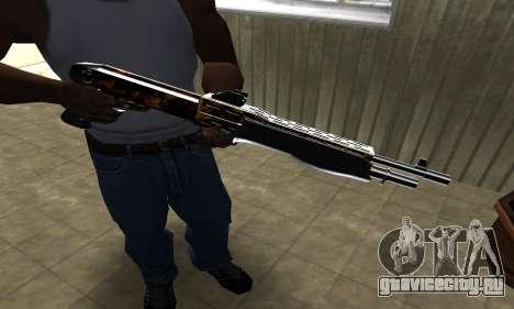Brighty Yellow Combat Shotgun для GTA San Andreas третий скриншот