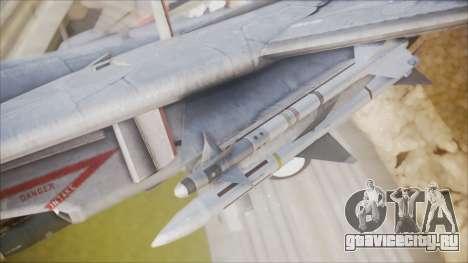 F-14B Bombcat VF-11 Red Rippers для GTA San Andreas вид справа