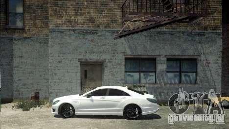 Mercedes-Benz CLS 63 AMG для GTA 4 вид сзади слева