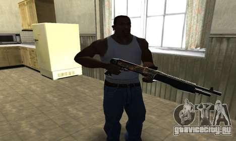 Brighty Yellow Combat Shotgun для GTA San Andreas второй скриншот