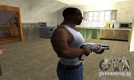 Mini White Shotgun для GTA San Andreas третий скриншот