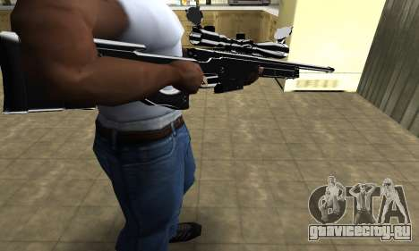 Full Black Sniper Rifle для GTA San Andreas