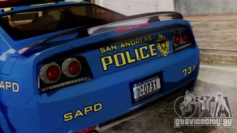 Hunter Citizen from Burnout Paradise SAPD для GTA San Andreas вид изнутри