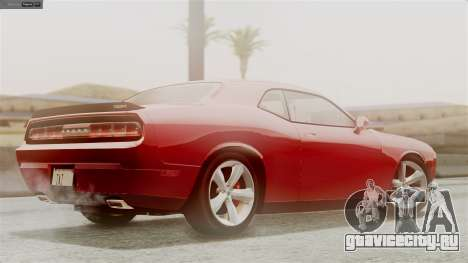 Dodge Challenger SRT8 2009 для GTA San Andreas вид сверху
