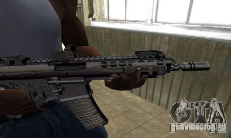 Full Black Automatic Gun для GTA San Andreas второй скриншот