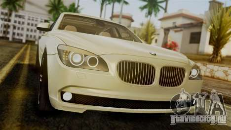 BMW 7 Series F02 2012 для GTA San Andreas вид сзади