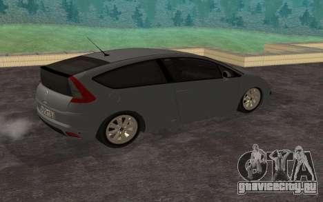 Citroen C4 для GTA San Andreas вид слева