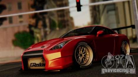 Nissan GT-R R35 Bensopra 2013 для GTA San Andreas вид сверху
