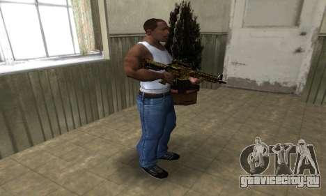Yellow Jungle M4 для GTA San Andreas третий скриншот