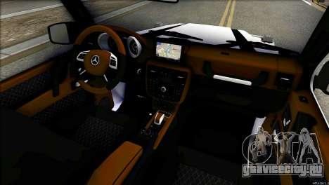 Mercedes-Benz G65 Hamann 2013 для GTA San Andreas вид сзади