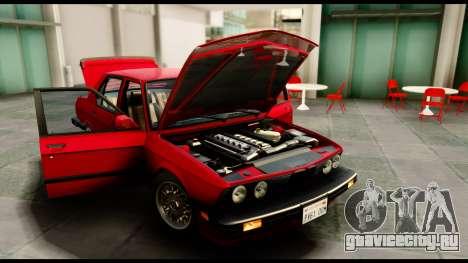 BMW M5 E28 1985 NA-spec для GTA San Andreas вид справа