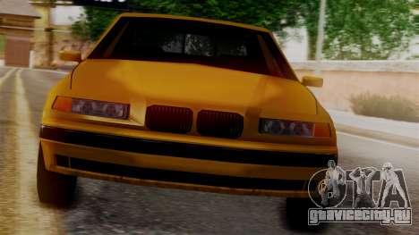 BMW M3 E36 SA Style для GTA San Andreas вид сзади слева