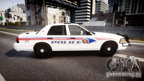 Ford Crown Victoria Bohan Police [ELS] WL для GTA 4 вид слева