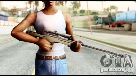 AWM L115A1 для GTA San Andreas третий скриншот