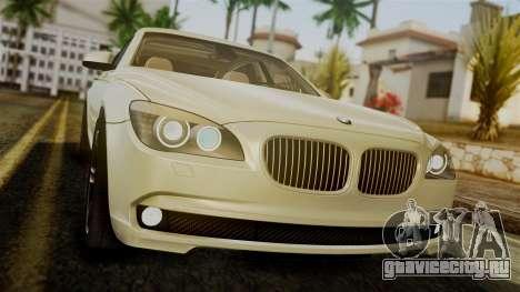 BMW 7 Series F02 2012 для GTA San Andreas вид изнутри
