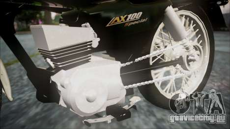 Suzuki AX 100 для GTA San Andreas вид справа