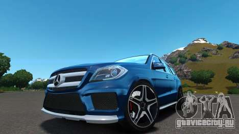 Mercedes-Benz GL 63 AMG для GTA 4 вид сзади