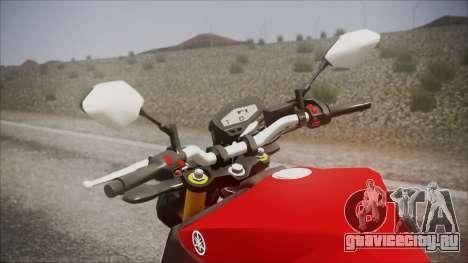 Yamaha MT-09 для GTA San Andreas вид справа