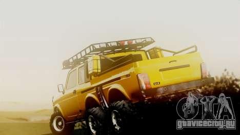 ВАЗ 2121 Нива 6х6 для GTA San Andreas вид сзади слева