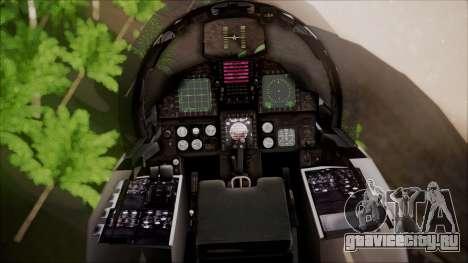 F-15S MTD Grabacr (8492nd) Ace Combat 5 для GTA San Andreas вид сзади