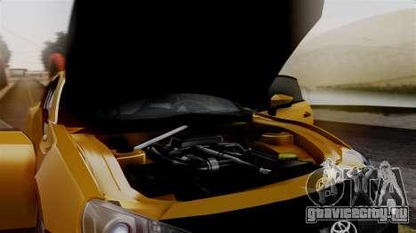 Toyota GT86 PJ для GTA San Andreas вид сзади
