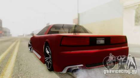 Infernus BMW Revolution with Plate для GTA San Andreas вид слева
