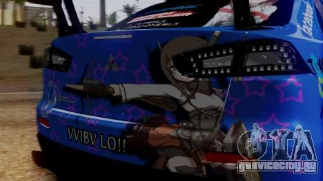 Mitsubishi Lancer Evolution X Taihou Itasha для GTA San Andreas вид изнутри