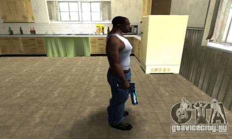 Blue Lines Deagle для GTA San Andreas третий скриншот