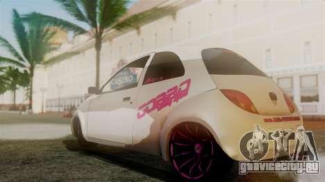 Ford Ka El Patan для GTA San Andreas вид сзади слева