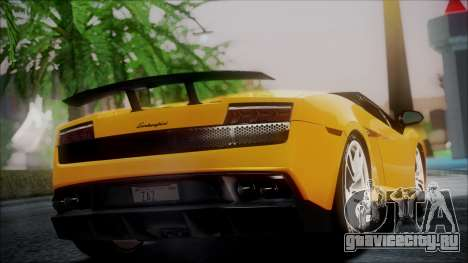 Lamborghini Gallardo LP570-4 Spyder 2012 для GTA San Andreas вид слева