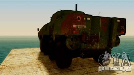KTO Rosomak для GTA San Andreas вид сзади слева
