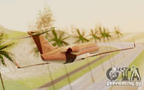 Buckingham Starjet v1.0 для GTA San Andreas вид слева