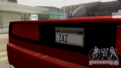 Infernus BMW Revolution with Plate для GTA San Andreas вид справа
