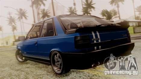 Renault 11 Turbo для GTA San Andreas вид слева