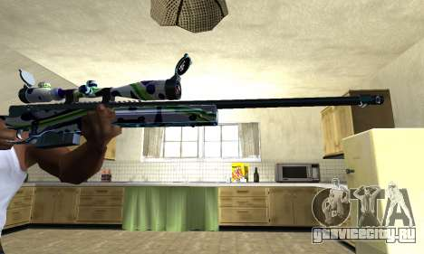 Marcken Sniper Rifle для GTA San Andreas второй скриншот