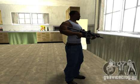 Full Black Automatic Gun для GTA San Andreas третий скриншот