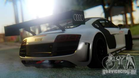 Audi R8 LMS для GTA San Andreas вид сзади слева