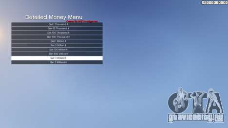 Detailed Money Menu для GTA 5