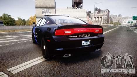 Dodge Charger 2014 LCPD [ELS] для GTA 4 вид сзади слева