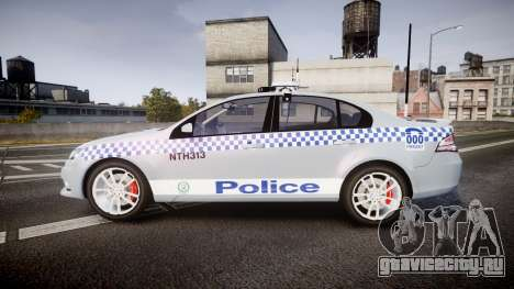 Ford Falcon FG XR6 Turbo Police [ELS] для GTA 4 вид слева
