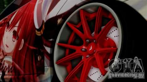 Lexus GS350 Stance Itsuka Kotori для GTA San Andreas вид сзади слева