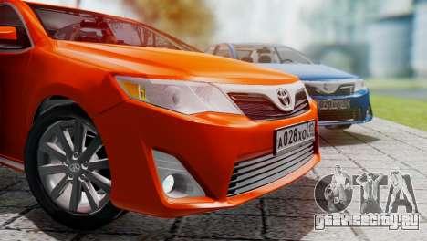 Toyota Camry 2012 для GTA San Andreas вид слева