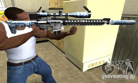 Blue Snow Sniper Rifle для GTA San Andreas второй скриншот
