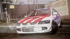 Mitsubishi Lancer Evolution VIII Yatogami Itasha для GTA San Andreas