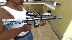 Blue Snow Sniper Rifle