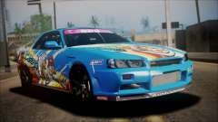 Nissan Skyline ER34 Duck Attack Team для GTA San Andreas